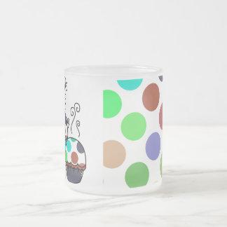 cute polka dot cupcake coffee mug