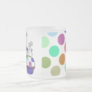cute polka dot cupcake mugs