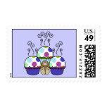 cute polka dot cupcake stamp