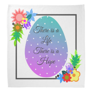 Cute polka dot egg with floral wreath bandana