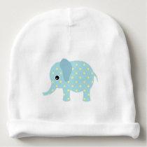 Cute Polka Dot Elephant Baby Beanie