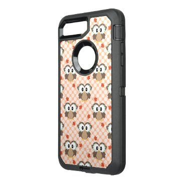 USA Themed Cute Polka Dot Fall Owl OtterBox Defender iPhone 7 Plus Case