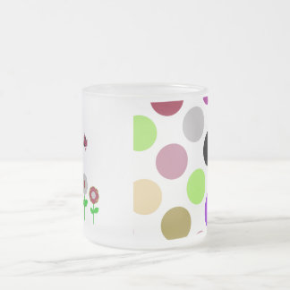 Cute Polka Dot Flowers Mug