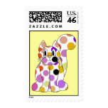 Cute Polka Dot Kitty Cat Postage Stamp