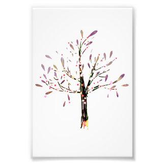 Cute Polka Dot Lavender Leaf Tree Photo Print