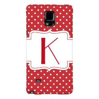 Cute Polka Dot Monogrammed Samsung Note 4 Case
