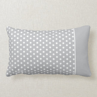 Cute Polka Dot Pillow | Light Grey White