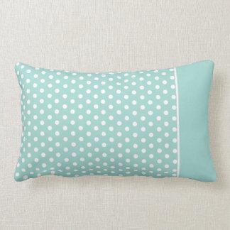 Cute Polka Dot Pillow | Mint Green White