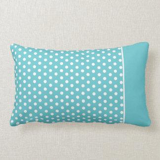 Cute Polka Dot Pillow | Teal White