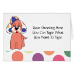 Cute Polka Dot Puppy Dog Greeting Card