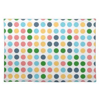 Cute Polka Dots   Abstract Art Cloth Place Mat