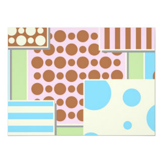 Cute Polka Dots and Stripes Card