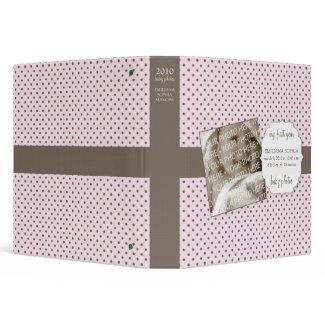 Cute Polka Dots Baby Photos Avery Binder (Pink) binder