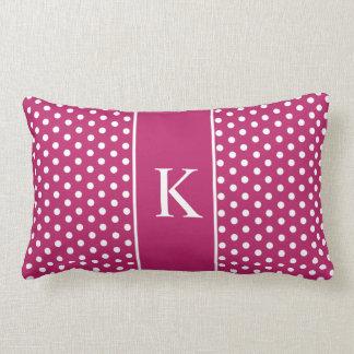 Cute Polka Dots | Berry Pink Throw Pillow