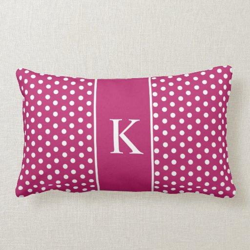 Cute Polka Dots   Berry Pink Throw Pillow