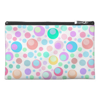 cute polka dots,edit background color travel accessory bag