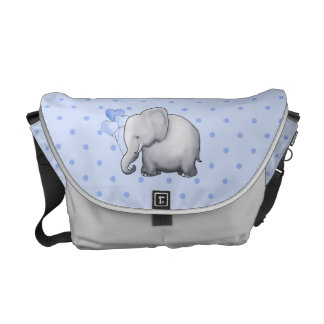 Cute Polka Dots Elephant Baby Maternity Diaper Messenger Bag