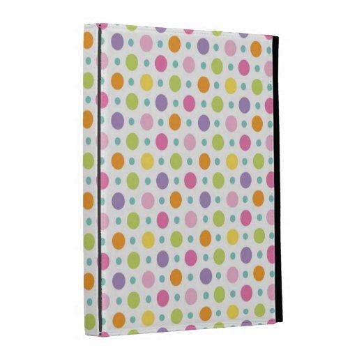 cute polka dots pastel pattern iPad cases