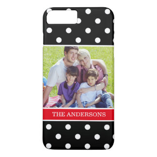 Cute Polka Dots Pattern with Family Photo Portrait iPhone 8 Plus/7 Plus Case