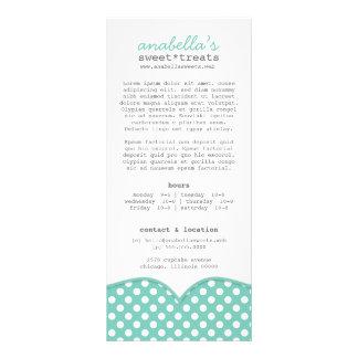 Cute Polka Dots Rack Card