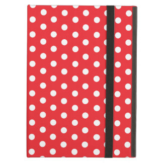 Cute Polka Dots | Red and White iPad Air Cover