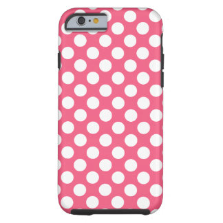 Cute Polka Pot Pattern with White Dots Tough iPhone 6 Case