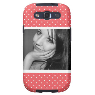 Cute Polkadots Pink with Large Photo Galaxy S3 Cover