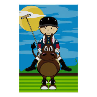Cute Polo Player Poster