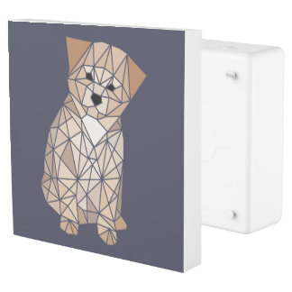 Cute Polygon Puppy Outlet Cover