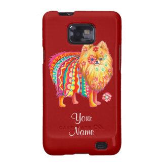 Cute Pomeranian Art Samsung Galaxy S2 Case