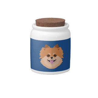 Cute Pomeranian Cartoon! Candy Jar