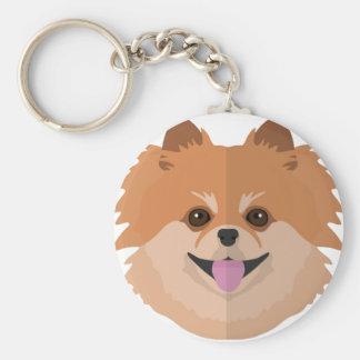 Cute Pomeranian Cartoon! Keychain