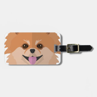Cute Pomeranian Cartoon! Luggage Tag