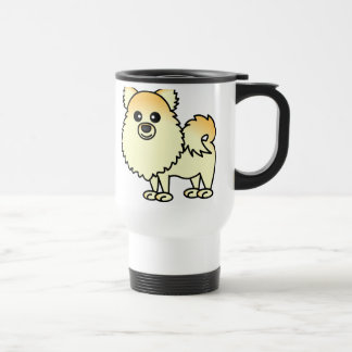 Cute Pomeranian Cartoon Travel Mug