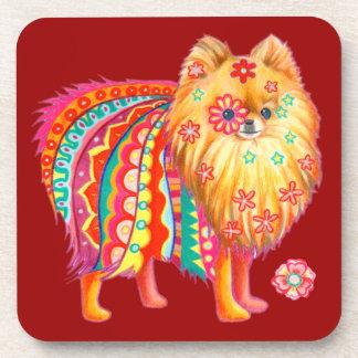 Cute Pomeranian Coasters - Set of 6