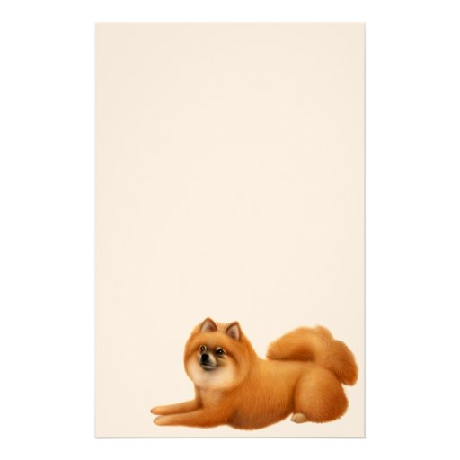 Cute Pomeranian Dog Stationery