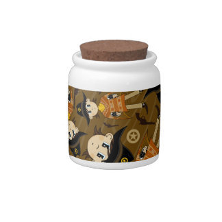 Cute Poncho Cowboy Cookie Jar Candy Jar