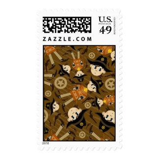 Cute Poncho Cowboy Stamp