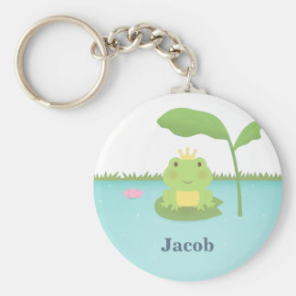 Cute Pond Frog Prince For Boys Keychain