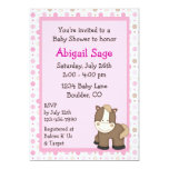 """Cute Pony Baby Shower Invitations for Girls 5"""" X 7"""" Invitation Card"""