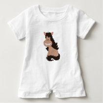 Cute Pony Cartoon Baby Romper