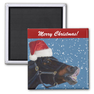 Cute Pony Christmas Magnet