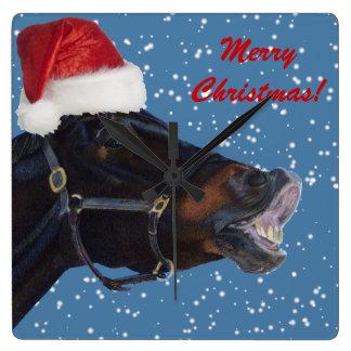 Cute Pony Christmas Wall Clock