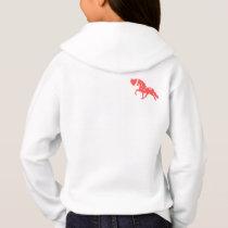Cute pony love childrens hoodie