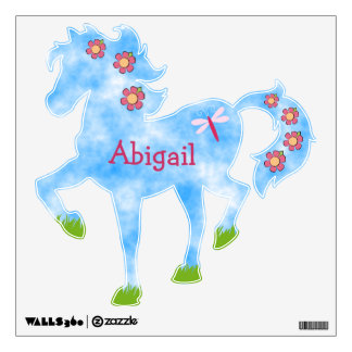Cute Pony Personalized Horse Wall Decal