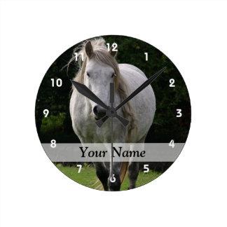 Cute pony photograph round wallclock