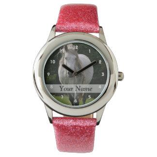 Cute pony photograph wristwatch