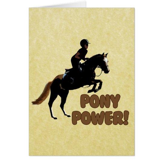 Cute Pony Power Equestrian Card