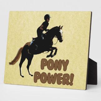 Cute Pony Power Equestrian Display Plaques