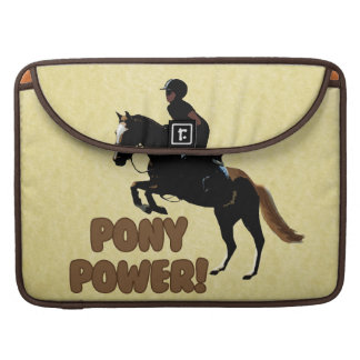 Cute Pony Power Equestrian Sleeves For MacBook Pro